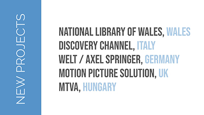 XDD 2019 Year Results: New Projects - france.tv Preview (France)< Discovery Channel (Italy), Axel Springer (Germany), Motion Picture Solution (UK), MTVA (Hungary)